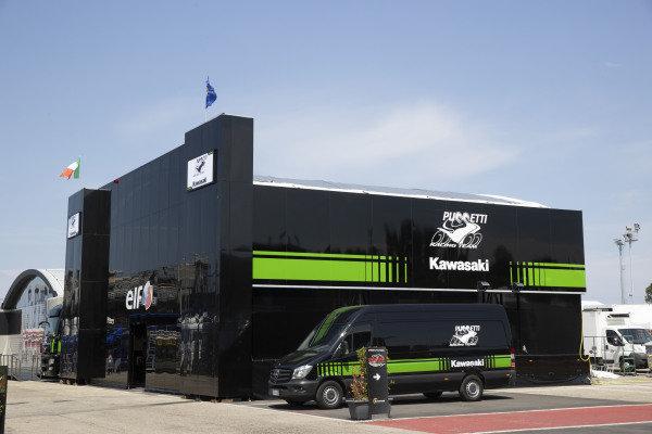 Kawasaki Puccetti Racing hospitality.