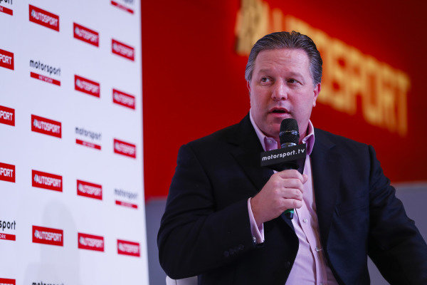 Zak Brown on the Autosport Stage.