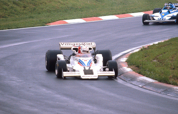 1977 Austrian Grand Prix.Osterreichring, Zeltweg, Austria.12-14 August 1977.Alan Jones (Shadow DN8 Ford) 1st position, takes his maiden Grand Prix win and the Shadow Racing Team's last.Ref-77 AUT 11.World Copyright - LAT Photographic