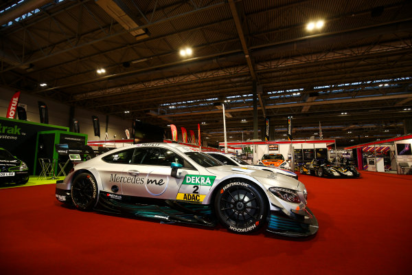 Autosport International Exhibition. National Exhibition Centre, Birmingham, UK. Sunday 14th January, 2018. BMW and Mercedes DTM cars on display.World Copyright: Mike Hoyer/JEP/LAT Images Ref: AQ2Y9416