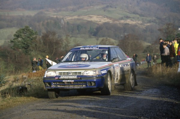 1992 World Rally Championship. Lombard RAC Rally, Great Britain. 22 -25 November 1992. Colin McRae/Derek Ringer (Subaru Legacy RS), 6th position. World Copyright: LAT Photographic Ref: 35mm transparency 92RALLY19