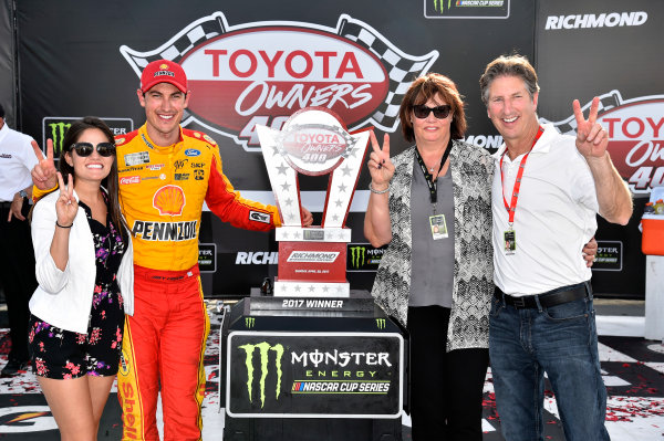 Monster Energy NASCAR Cup Series Toyota Owners 400 Richmond International Raceway, Richmond, VA USA Sunday 30 April 2017 Joey Logano, Team Penske, Shell Pennzoil Ford Fusion wins. World Copyright: Rusty Jarrett LAT Images ref: Digital Image 17RIC1rj_4464