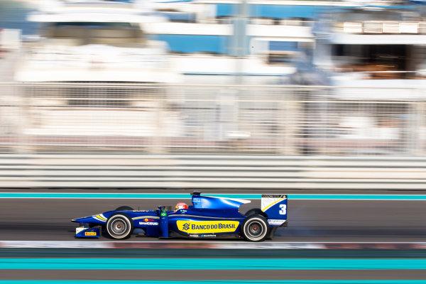 2014 GP2 Series Test 1  Yas Marina Circuit, Abu Dhabi, UAE.  Wednesday 12 March 2014. Felipe Nasr (BRA) Carlin  Photo: Malcolm Griffiths/GP2 Series Media Service ref: Digital Image F80P5067
