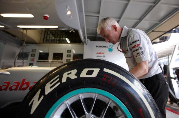 Interlagos, Sao Paulo, Brazil. 24th November 2011. Geoff Willis, Technology Director, Mercedes GP. Portrait.  World Copyright: Steve Etherington/LAT Photographic ref: Digital Image SNE21273