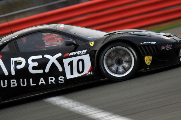 Silverstone, 8th-9th October 2011Jim Geddie/Glynn Geddie - CRS Racing Ferrari 458 ItaliaWorld Copyright: Ebrey/LAT Photographic