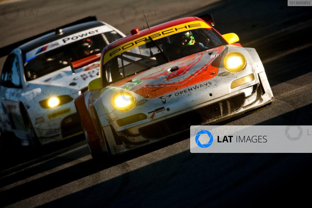 American Le Mans Series. Laguna Seca, Monterey, California. 15th - 17th September 2011. Jorg Bergmeister / Patrick Long, Flying Lizzard Motorsports, Porsche 911 GT3 RSR. Action. Photo: Drew Gibson/LAT Photographic. ref: Digital Image _Y2Z6825