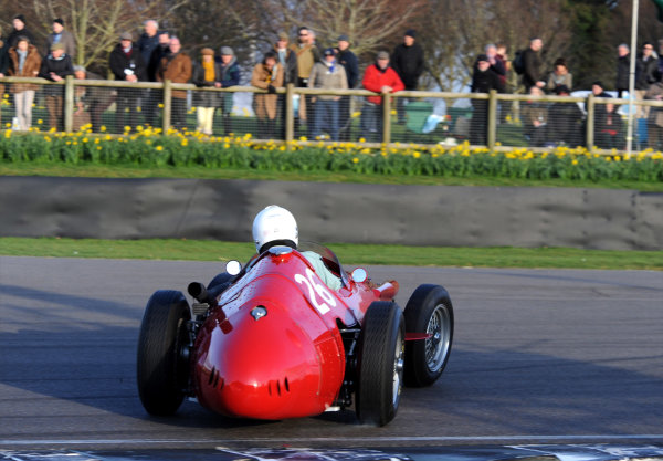 2015 73rd Members Meeting  Goodwood Estate, West Sussex, England 21st - 22nd March 2015 Race 11 Hawthorn Trophy Mark Hales Maserati 250F World Copyright: Jeff Bloxham/LAT Photographic ref: Digital Image DSC_2959