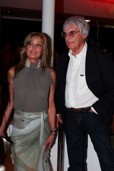 (L to R): Bo Derrick, actress with Bernie Ecclestone (GBR) F1 Supremo at the Fly Kingfisher Boat Party. Formula One World Championship, Rd 12, Turkish Grand Prix, Qualifying Day, Istanbul Park, Turkey, Saturday 25 August 2007.