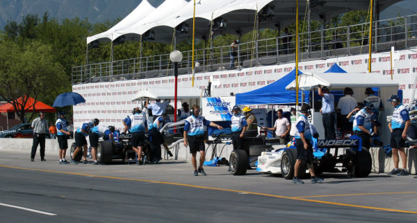 The Monterrey pit lane.