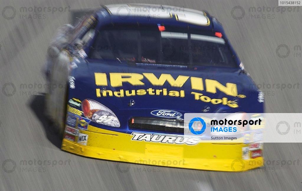 Kurt Busch (USA) Roush Racing Sharpie Ford finished in eighth position.NASCAR Nextel Cup Series, Subway 400, Rockingham, North Carolina, USA, 22 February 2004.DIGITAL IMAGE