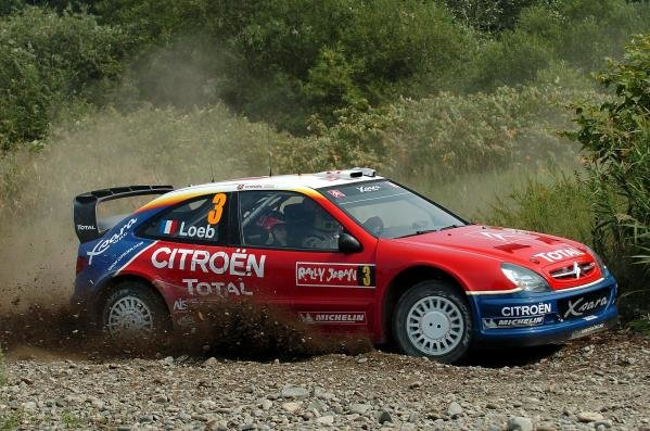 Sebastien Loeb (FRA) / Daniel Elena (MON) Citroen Xsara WRC.World Rally Championship, Rd11, Rally of Japan, Shakedown, Obihiro, Hokkaido, Japan, 2 September2004.DIGITAL IMAGE