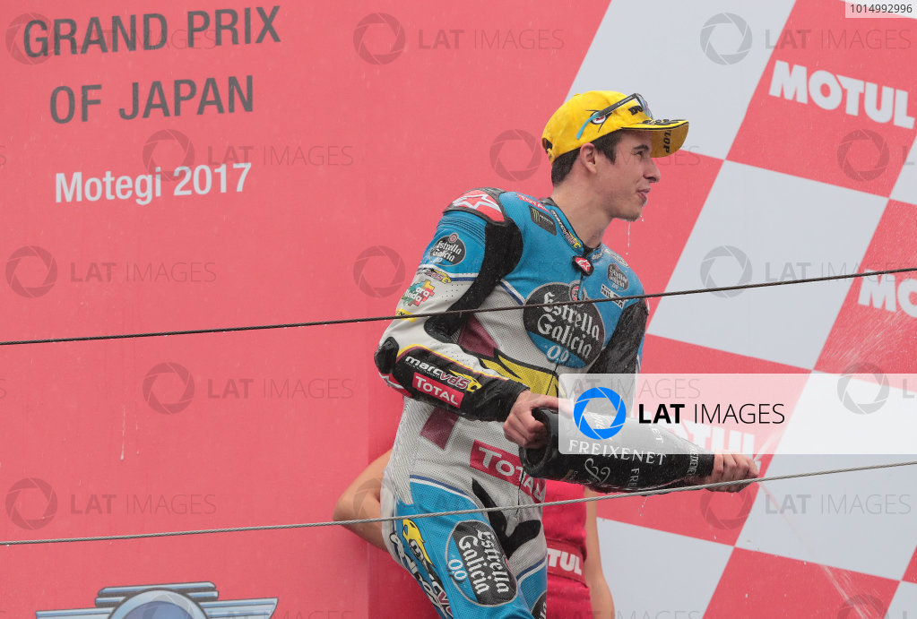 2017 Moto2 Championship - Round 15 Motegi, Japan. Sunday 15 October 2017 Race winner Alex Marquez, Marc VDS World Copyright: Gold and Goose / LAT Images ref: Digital Image 698137