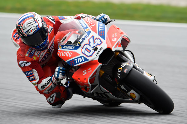 2017 MotoGP Championship - Round 11 Spielberg, Austria Friday 11 August 2017 Andrea Dovizioso, Ducati Team World Copyright: Gold and Goose / LAT Images ref: Digital Image 685670