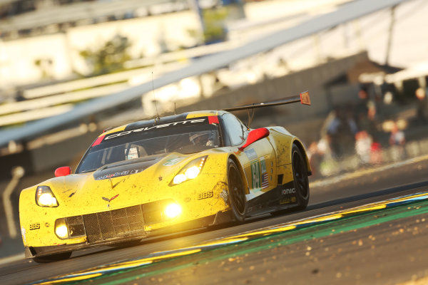 2017 Le Mans 24 Hours Circuit de la Sarthe, Le Mans, France. Sunday 18th  June 2017 #64 Corvette Racing-GM Chevrolet Corvette C7.R: Oliver Gavin, Tommy Milner, Marcel Fassler  World Copyright: JEP/LAT Images