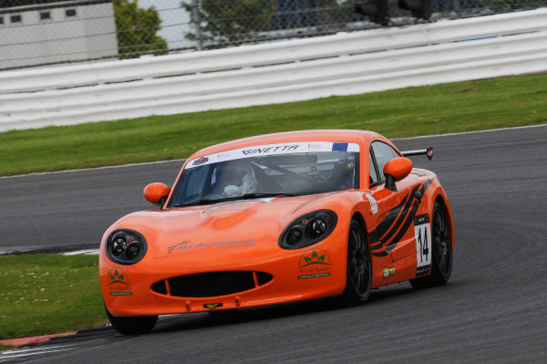 2017 Ginetta Racing Drivers Club, Silverstone, 11th-12th June 2017, Tom Sibley Ginetta G40. World copyright. JEP/LAT Images