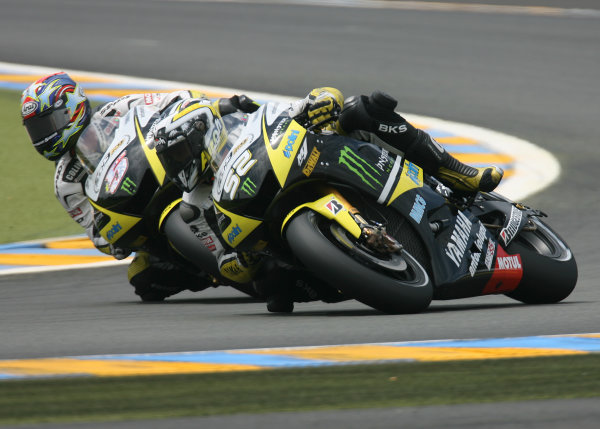 Le Mans, France. 16th - 17th May 2009.Monster Yamaha Tech 3 team mates James Toseland and Colin Edwards battle.World Copyright: Martin Heath/LAT Photographicref: BPI_Moto 8a6g