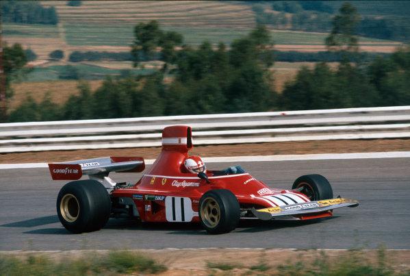 Kyalami, South Africa. 30 March 1974. Clay Regazzoni (Ferrari 312B3), retired. Action. Ref: 74SA02. World Copyright - LAT Photographic