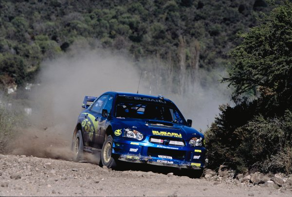 2003 World Rally ChampionshipRally Argentina, Cordoba, Argentina, 7th - 11th May 2003.Petter Solberg/Philip Mills (Subaru Impreza WRC 2003), action.World Copyright: LAT Photographicref: 03WRCArg14