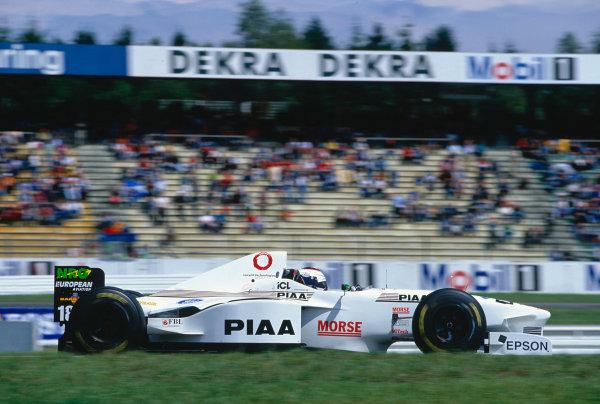 Hockenheim, Germany. 25-27 July 1997.Jos Verstappen (Tyrrell 025 Ford).Ref-97 GER 31.World Copyright - Martyn Elford/LAT Photographic