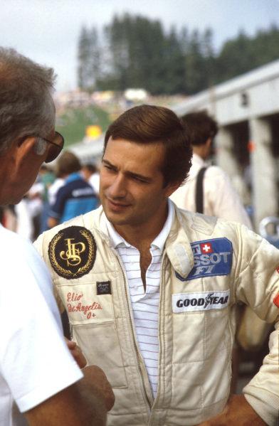 Osterreichring, Austria.13-15 August 1982.Elio de Angelis (Lotus Ford) 1st position.Ref-82 AUT 06.World Copyright - LAT Photographic