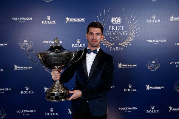 2015 FIA Prize Giving Paris, France Friday 4th December 2015 Jose Maria Lopez, portrait  Photo: Copyright Free FOR EDITORIAL USE ONLY. Mandatory Credit: FIA / Jean Michel Le Meur  / DPPI ref: _ML23427