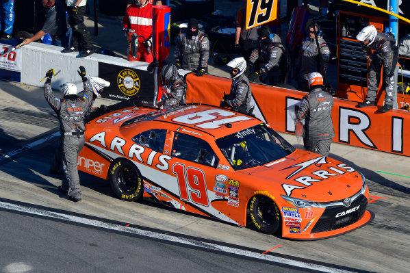 19-20 February, 2016, Daytona Beach, Florida USA Daniel Suarez, ARRIS Toyota Camry makes a pit stop. ©2016, F. Peirce Williams LAT Photo USA