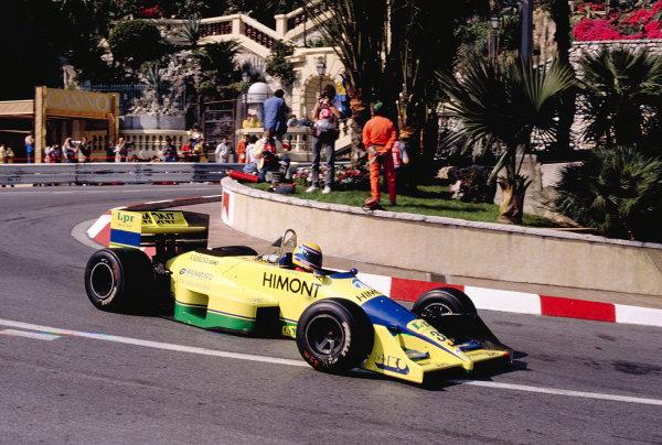 1989 Monaco Grand Prix.Monte Carlo, Monaco.4-7 May 1989.Roberto Moreno (Coloni FC188B Ford) at Loews Hairpin.Ref-89 MON 48.World Copyright - LAT Photographic