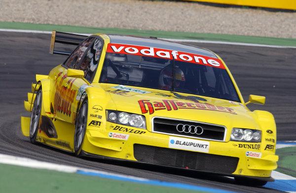 2004 German Tourng Car (DTM) Championship Hockenheim, Germany, 18th April 2004Tom Kristensen (Abt Sportsline Audi A4). Action.World Copyright: Irlmeier/LAT Photographic ref: Digital Image Only