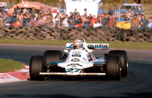 1980 Canadian Grand Prix.Montreal, Quebec, Canada.26-28 September 1980.Alan Jones (Williams FW07B Ford) 1st position.Ref-80 CAN 01.World Copyright - LAT Photographic