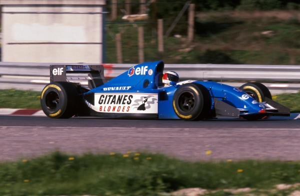 Michael Schumacher (GER) tests the Ligier JS39B Renault to evaluate the Renault V10 engine that will power his Benetton for the following season. Formula One Testing, Estoril, Portugal, 12-16 December 1994.