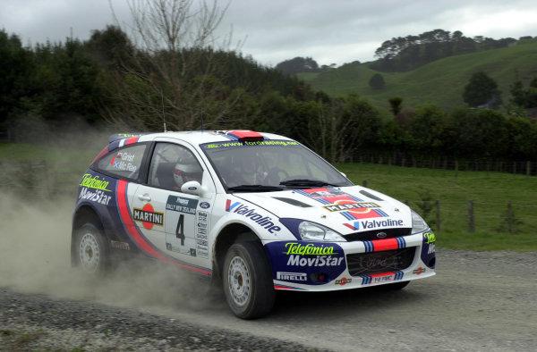 2001 World Rally Championship.Rally of New Zealand. September 20-23, 2001.Auckland, New Zealand.Colin McRae during shakedown.Photo: Ralph Hardwick/LAT