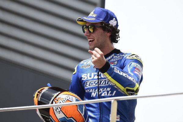 Podium: second place Alex Rins, Team Suzuki MotoGP.