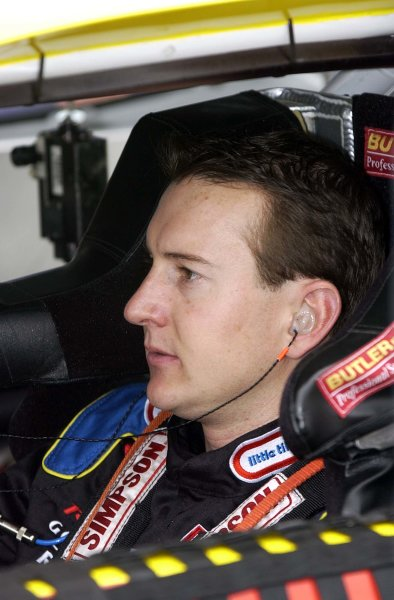 2002 NASCAR Miami, USA November 14-17,2002,Homestead-Miami Motorsports Complex-Kurt Busch moments prior to the start of the race,-Robt LeSieur2002LAT Photographic
