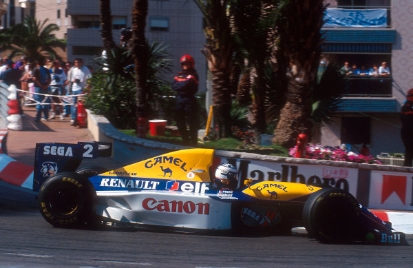 1993 Monaco Grand Prix.Monte Carlo, Monaco.20-23 May 1993.Alain Prost (Williams FW15C Renault) 4th position at Loews Hairpin.Ref-93 MON 18.World Copyright - LAT Photographic
