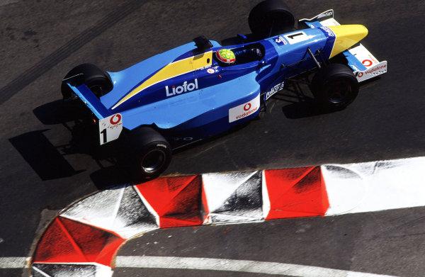 2001 F3000 ChampionshipMonte Carlo, Monaco. 26th May 2001Race winner Mark Webber, Super Nova Racing - action.World Copyright: Lorenzo Bellanca / LAT Photographicref: 35mm Image A04