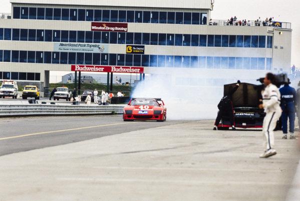 Jean-Louis Schlesser / Jean-Pierre Jabouille, Ferrari France, Ferrari F40 LM, with smoke down the pitlane.