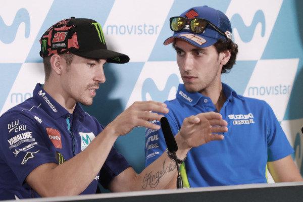 Maverick Vinales, Yamaha Factory Racing, Alex Rins, Team Suzuki MotoGP.
