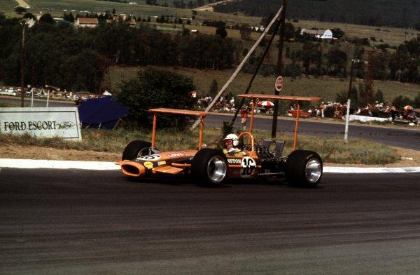 1969 South African Grand Prix.Kyalami, South Africa.27/2-1/3 1969.John Love (Lotus 49 Ford).Ref-69 SA 47.World Copyright - LAT Photographic
