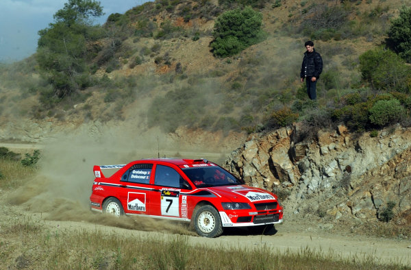 World Rally Championship, Cyprus Rally, April 18-21, 2002.Francois Delecour during shakedownPhoto: Ralph Hardwick/LAT
