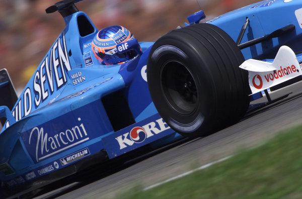 2001 German Grand Prix - PracticeHockenheim, Germany. 27th July 2001.Jenson Button, Benetton Renault B201, action.World Copyright: Steve Etherington/LAT Photographic.ref: 16mb Digital Image