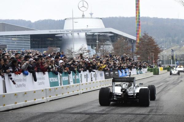 Lewis Hamilton (GBR) Mercedes AMG F1 W05.Mercedes-Benz Stars and Cars, Mercedes-Benz Museum, Stuttgart, Germany, 29 November 2014.