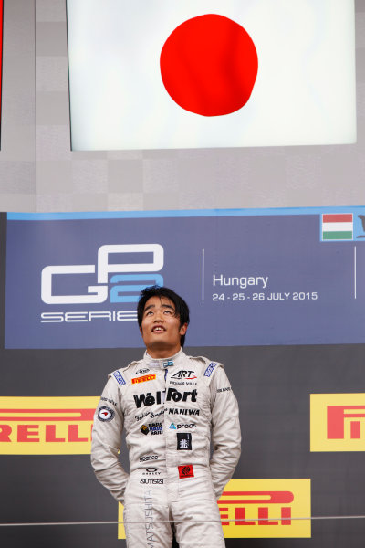 2015 GP2 Series Round 6.  Hungaroring, Budapest, Hungary. Sunday 26 July 2015. Nobuharu Matsushita (JPN, ART Grand Prix)  World Copyright: Sam Bloxham/LAT Photographic. ref: Digital Image _G7C3749