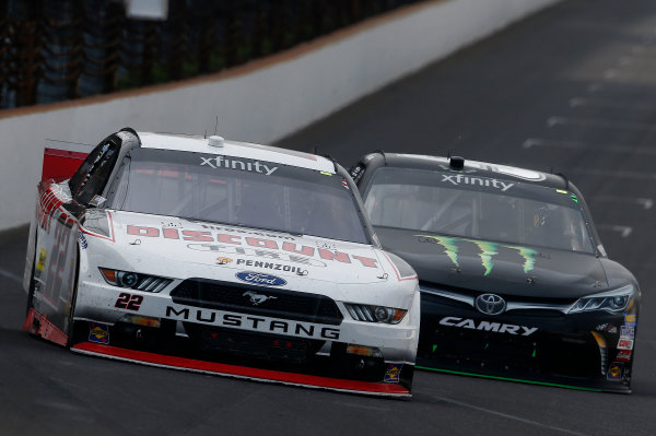 24-25 July, 2015, Indianapolis, Indiana USA Ryan Blaney, Kyle Busch, Monster Energy Toyota Camry ?2015, Brett Moist LAT Photo USA