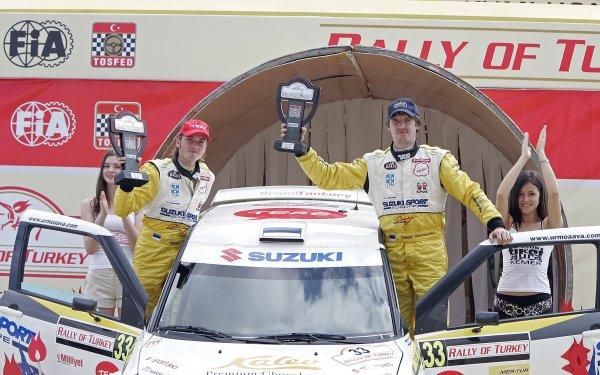2006 FIA World Rally ChampionshipRound 13Rally of Turkey 200612th - 15th October 2006Urmo Aava, Suzuki, podium.World Copyright: McKlein/LAT