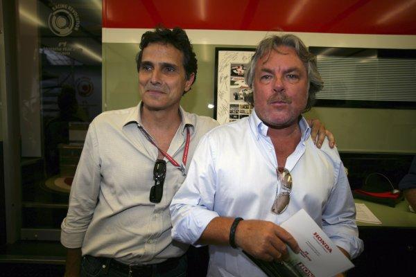 2006 German Grand Prix - Friday Practice Hockenheim, Germany. 27th - 30th July. Nelson Piquet and Keke Rosberg, portrait. World Copyright: Lorenzo Bellanca/LAT Photographic ref: Digital Image ZD2J0399