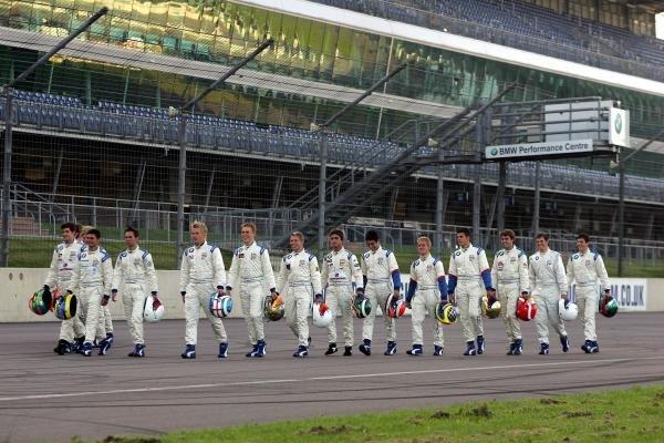 2004 Formula BMW UK drivers.Formula BMW UK Championship, Rockingham, England, 4-5 September 2004.DIGITAL IMAGE.