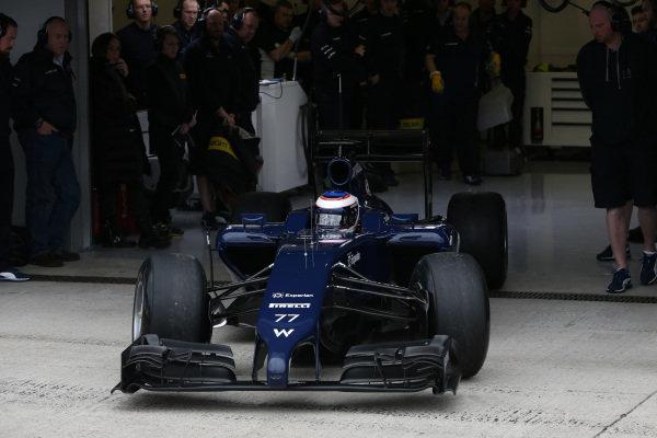 Valtteri Bottas (FIN) Williams FW36. Formula One Testing, Jerez, Spain, Day One, Tuesday 28 January 2014.