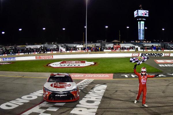 #20: Christopher Bell, Joe Gibbs Racing, Toyota Camry Rheem wins Xfinity race in Richmond.
