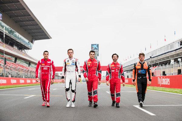 Giuliano Alesi (FRA, Trident), Anthoine Hubert (FRA, ART Grand Prix), Julien Falchero (FRA, Arden International), Gabriel Aubry (FRA, Arden International), Dorian Boccolacci (FRA, MP Motorsport)