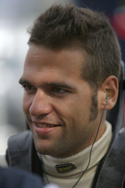 2007 GP2 Series. Round 7.Hungaroring, Budapest, Hungary 5th August 2007. Sunday Race.Roldan Rodriguez (ESP, Minardi Piquet Sports). Portrait. World Copyright: Alastair Staley/GP2 Series Media Service.ref: Digital ImageZP9O0431
